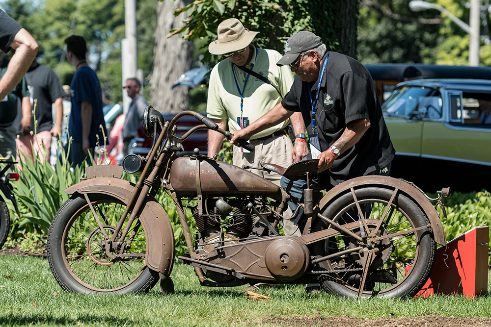 Motorcycle on display at Concours d'Elegance