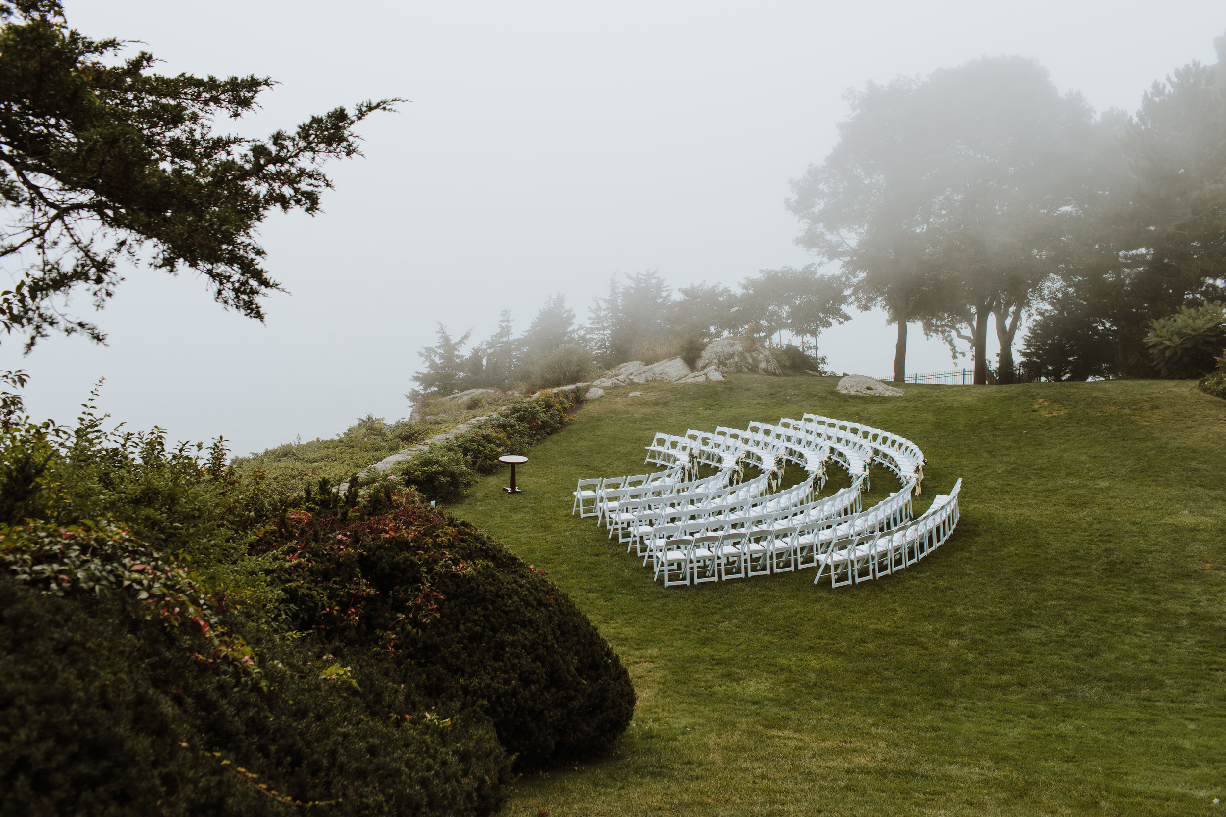 Misselwood Wedding Photo View of the Ocean from the back lawn